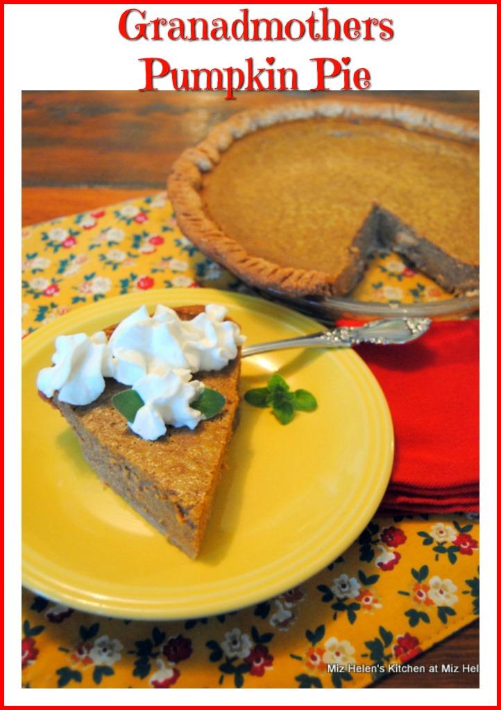 Grandmothers Pumpkin Pie