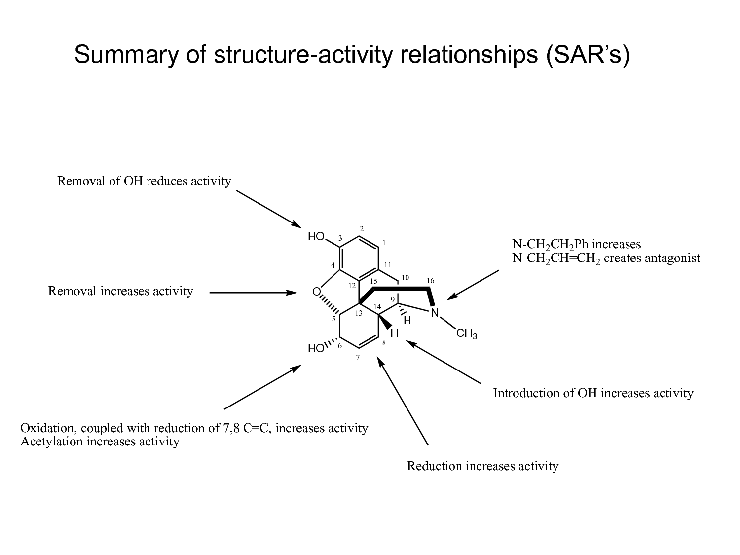 ranitidine structure activity relationship of morphine