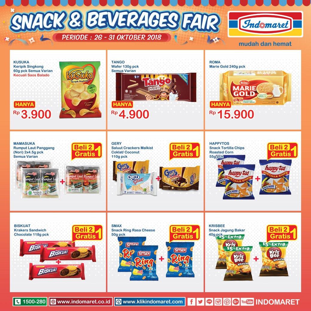 Indomaret - Promo Katalog Snack & Beverage Peridoe 26 - 31 Okt 2018