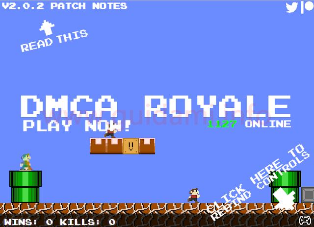 DMCA Royale schermata iniziale di gioco