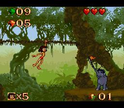 The Jungle Book online grátis para Super Nintendo
