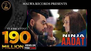 AADAT (पर तेरी आदत पै गयी आ Lyrics in Hindi) - Ninja