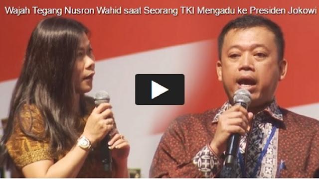 Lihat Wajah Tegang Nusron saat Seorang TKI Mengadu ke Presiden Jokowi