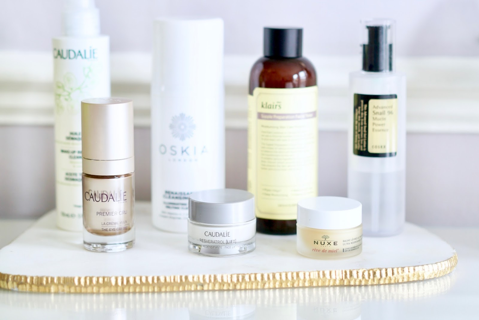 CURRENT SKINCARE ROUTINE FOR COMBINATION SKIN  caudalie, nuxe, cosrx, klairs, oskia