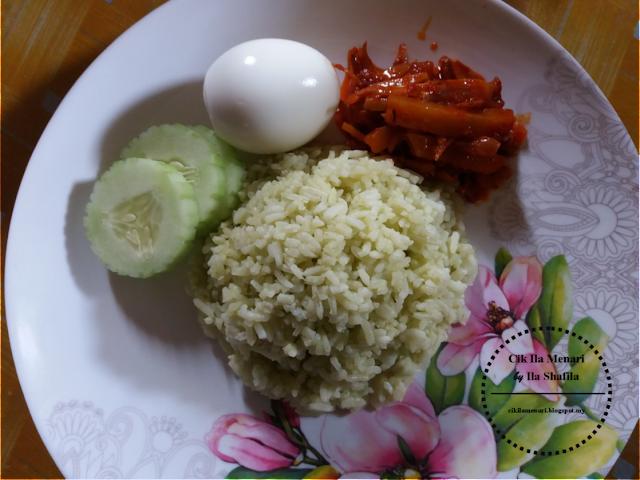 Nasi lemak hijau Cik Ila Menari