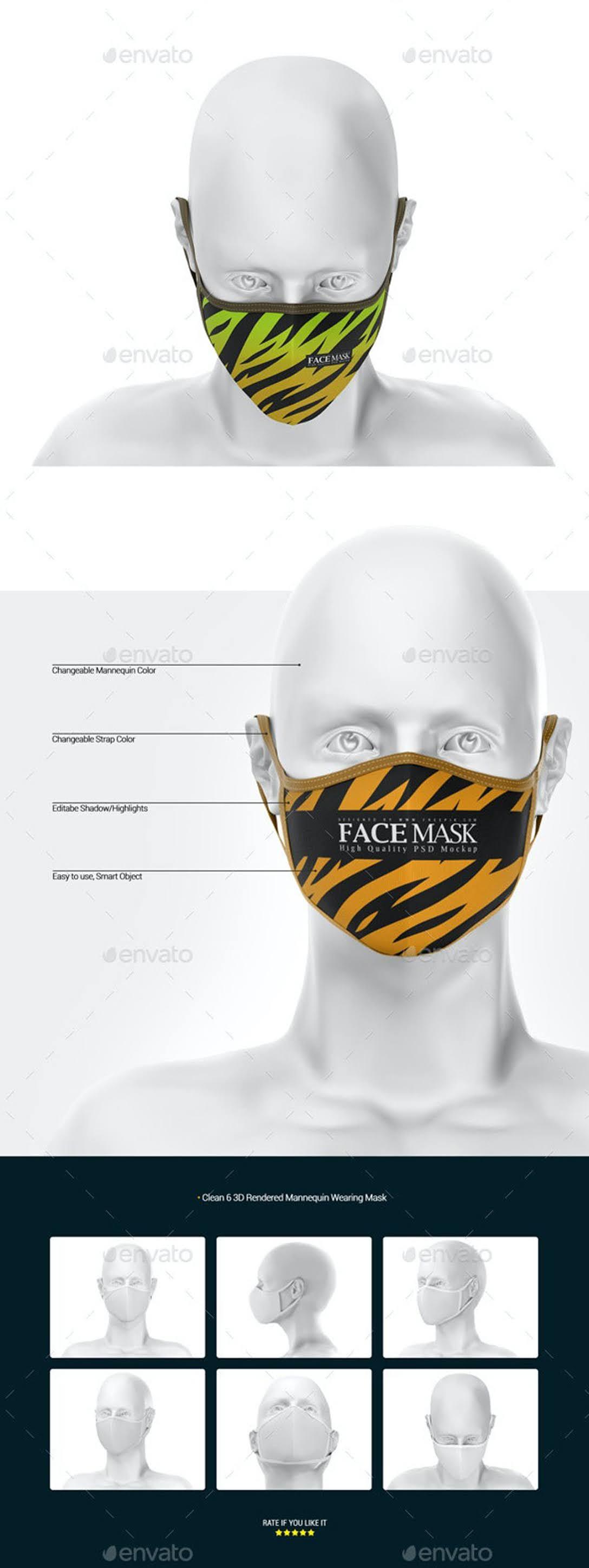 Face Mask Mockup 27918364
