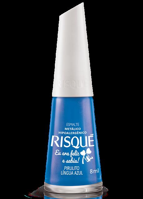 Esmalte Pirulito lingua azul Risqué