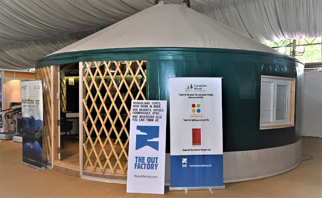 The Out Factory, Yurt, Yurts, Mongolian Yurts, Glamping, Camping, Outdoors, Sponsored, Blog, Blog Post, Bloggers, Blogging, Travel Bloggers, Happening Heads, #HappeningHeads, #DiscoverTheNew, India International Travel Mart 2019, India International Travel Mart, IITM, IITM 2019, IITM Bengaluru