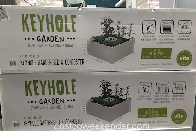 Reuse food scraps for your backyard with the New England Arbors Keyhole Garden & Composter
