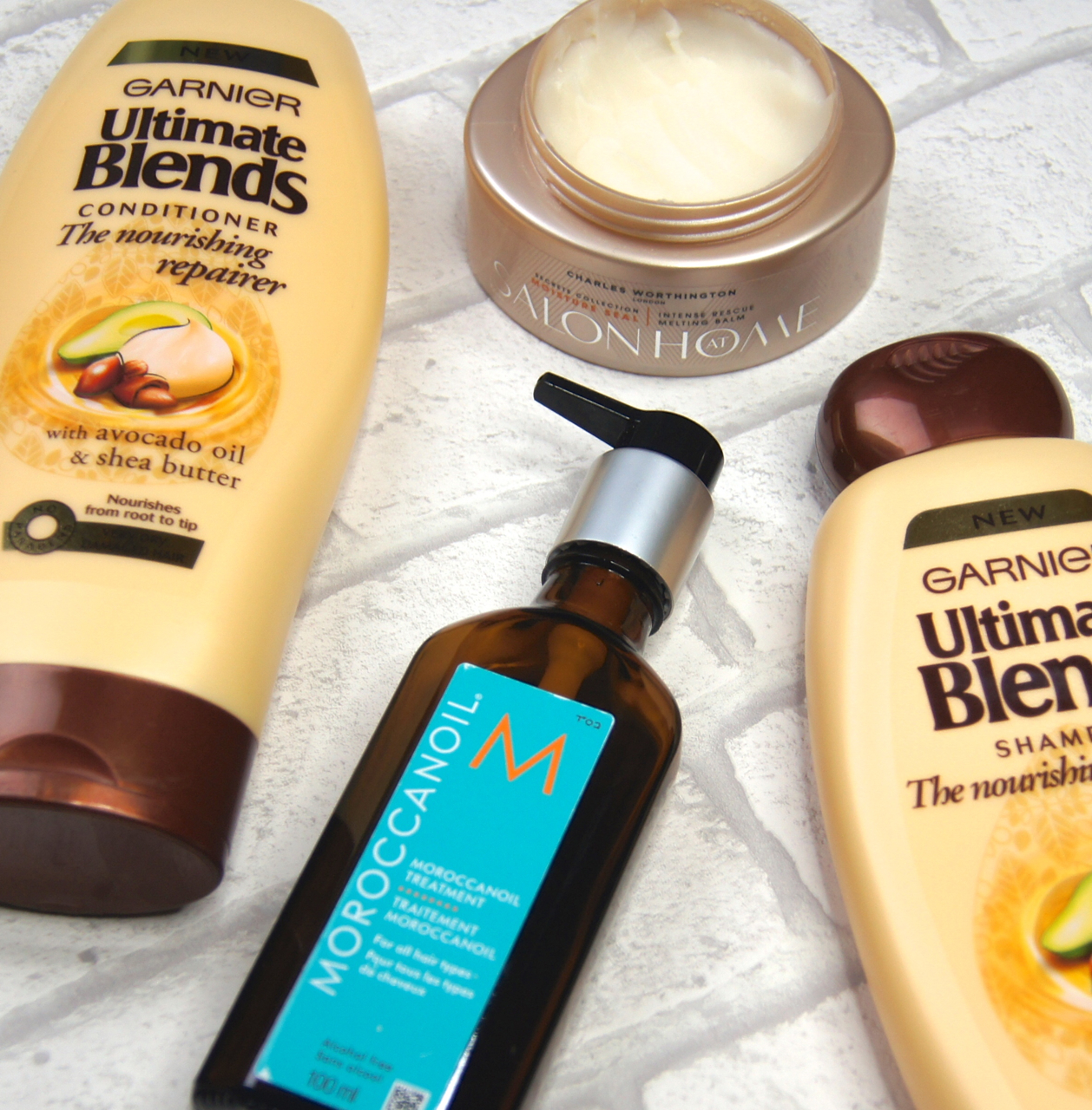 haircare favourites 2015 garnier shampoo conditioner charles worthing mask moroccanoil treatment review