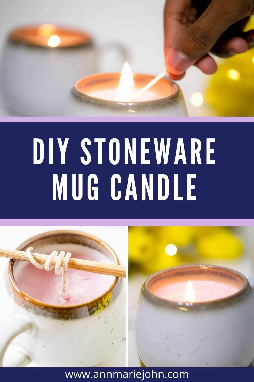 DIY Stoneware Mug Candle Pinterest