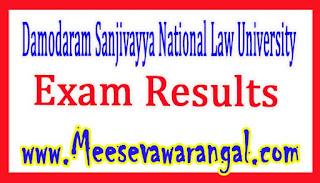 Damodaram Sanjivayya National Law University Law 1st/3rd/5th/7th / 9th Sem Regular Nov 2016 Exam Results