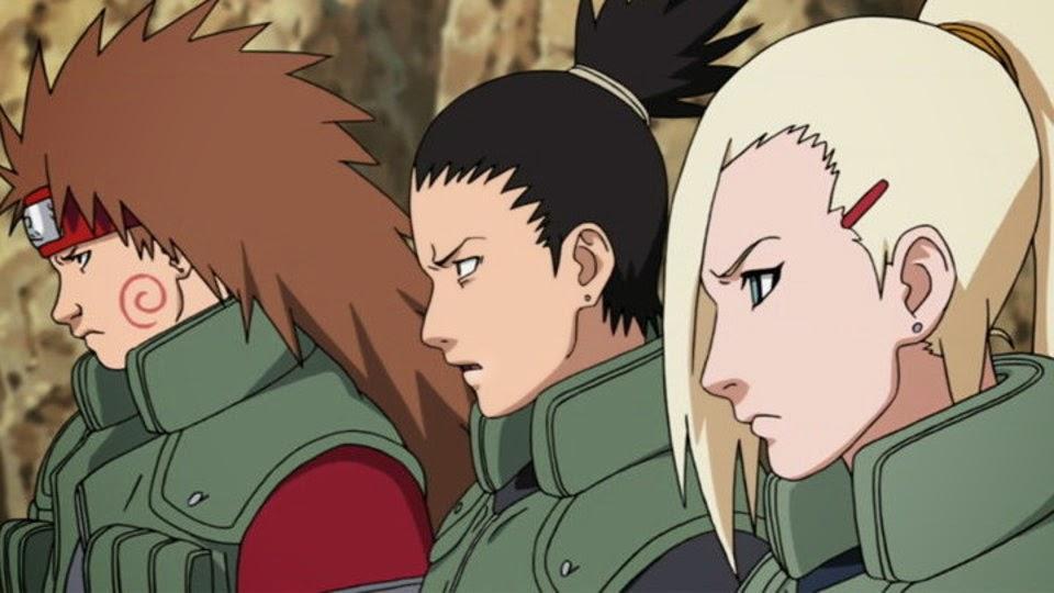 Equipo 10: Choji, Shikamaru y Ino