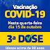 Santa Luzia do Pará começou a aplicação da 3ª dose de vacina anticovid em idosos nesta quarta-feira