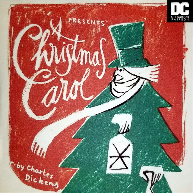 A Christmas Carol art by Spencer Roeder. Text: DC on SCREEN Patreon