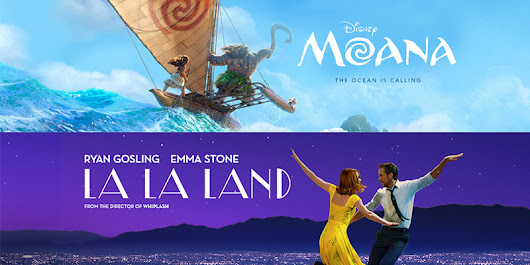 "New ""Moana"" and ""La La Land"" Sheet Music"