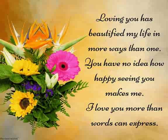 good morning lovely message to him with bouquet