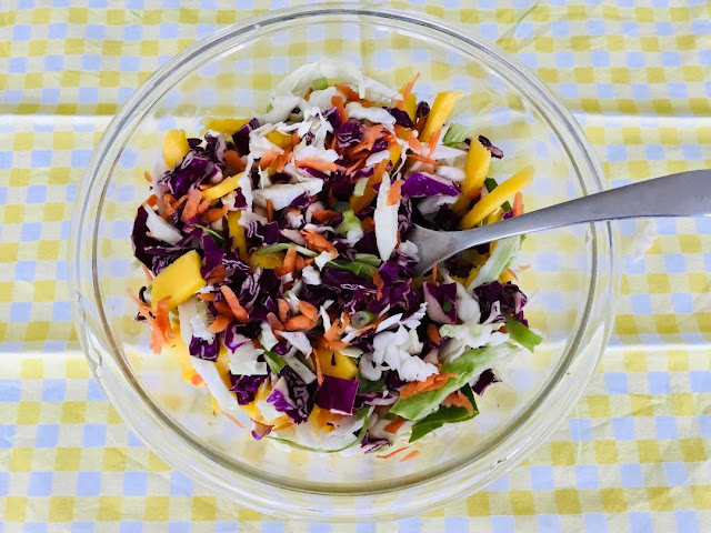 coleslaw with mangoes