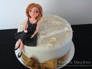 bolo aniversário renda