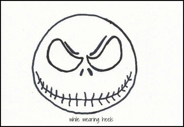 jack skellington face template - while wearing heels jack skellington ornaments