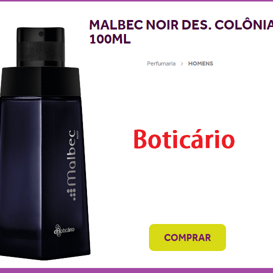 malbec noir/des colonia-, 100ml ...boticário