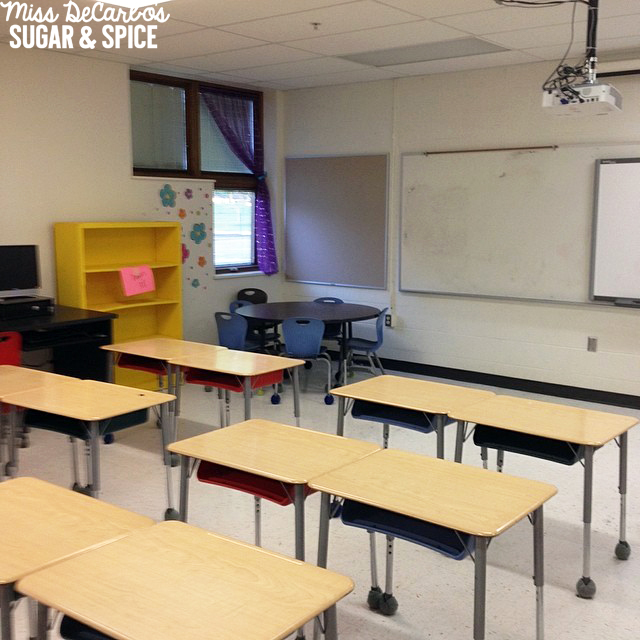 Find out how Miss DeCarbo transforms her empty classroom at the end of the year to a room that's happy, colorful, and ready for her students in autumn.