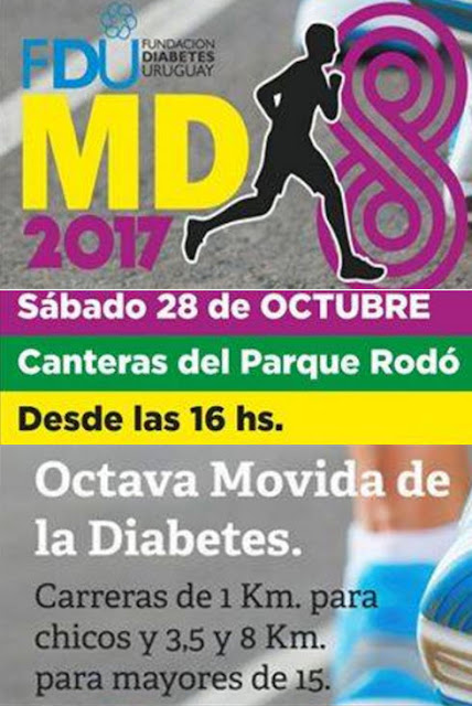 8k - 3,5k y 1k Movida de la diabetes (8a.ed.; Canteras del parque Rodó, 28/oct/2017)