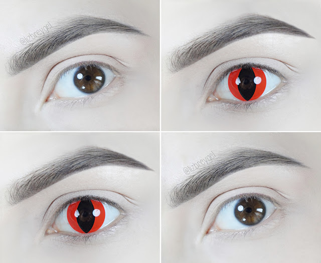 anime red eyes circle lens big red doll eyes makeup crazy lens liz breygel