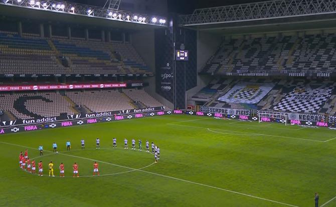 """A homenagem ao """"pai"""" do Estádio num estádio vazio"""