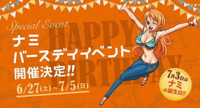 Urodziny Nami w Tokyo One Piece Tower
