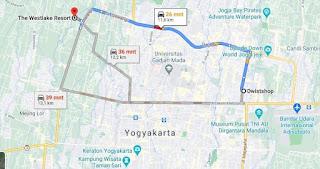 Lokasi The Westlake Resort Yogyakarta