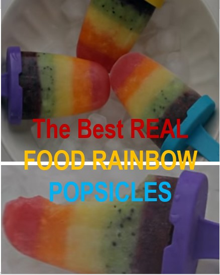 The Best Recipes: REAL FOOD RAINBOW POPSICLES (NO SUGAR ADDED!) MADE WITH NATURAL SUGAR-FREE SWEETENERS (STEVIA, ERYTHRITOL)