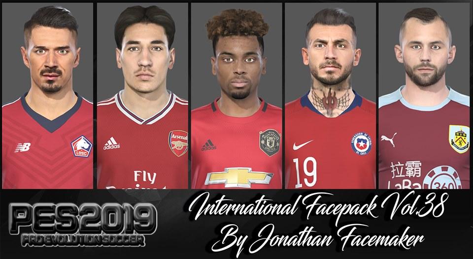 Pes 2019 Facepack International Vol 38 By Jonathan