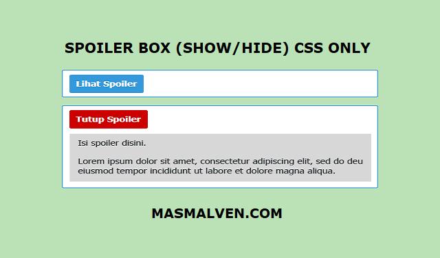 Kotak Spoiler Keren Dengan CSS
