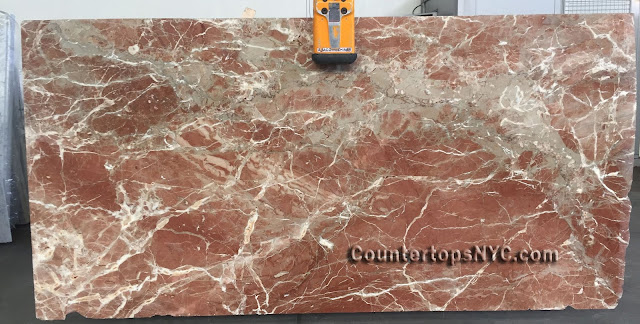 Rojo Coralito Marble Slab NYC 2cm