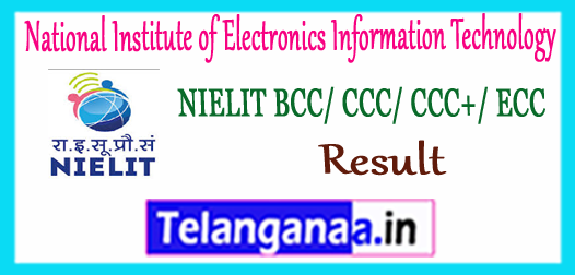 NIELIT National Institute of Electronics Information Technology Result 2017 CCC/BCC/CCC+/ECC/O/A/B/C Level Selected List