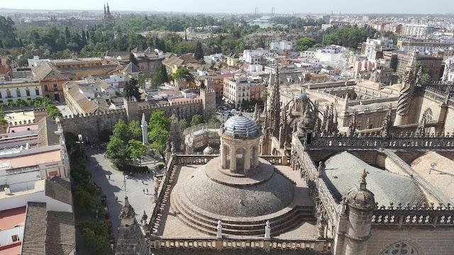 Vista desde Catedral, Torre de Giralda, Sevilla, Andalucía, España, Elisa N, Blog de Viajes, Lifestyle, Travel