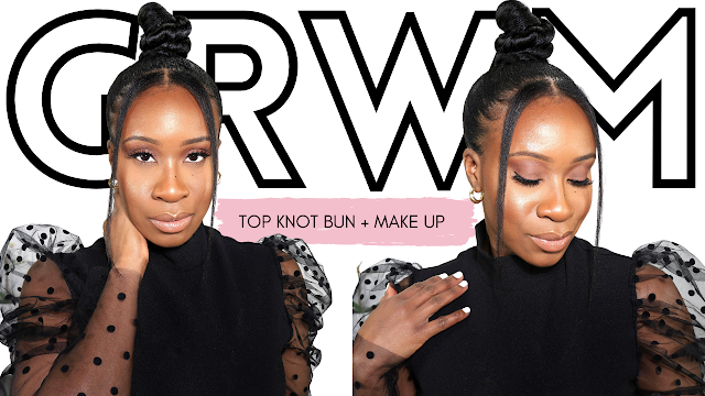Full GRWM: Top Knot Bun, Make Up, Outfit and MORE | www.HairliciousInc.com