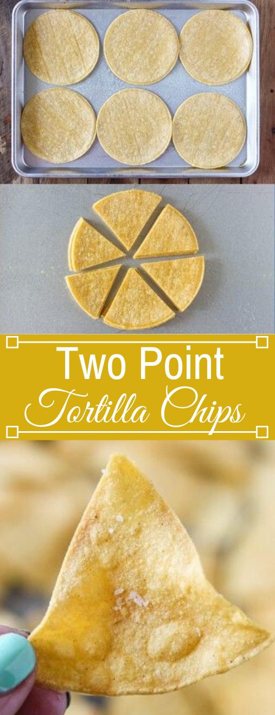 TWO POINT BAKED TORTILLA CHIPS #vegetarian #easy #shrimp #dinner #mushroom