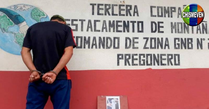 Como Jesús Andrade Araque fue identificado un sujeto detenido por ahorcar a un conejo hasta la muerte luego de causarle quemaduras con un cigarrillo.