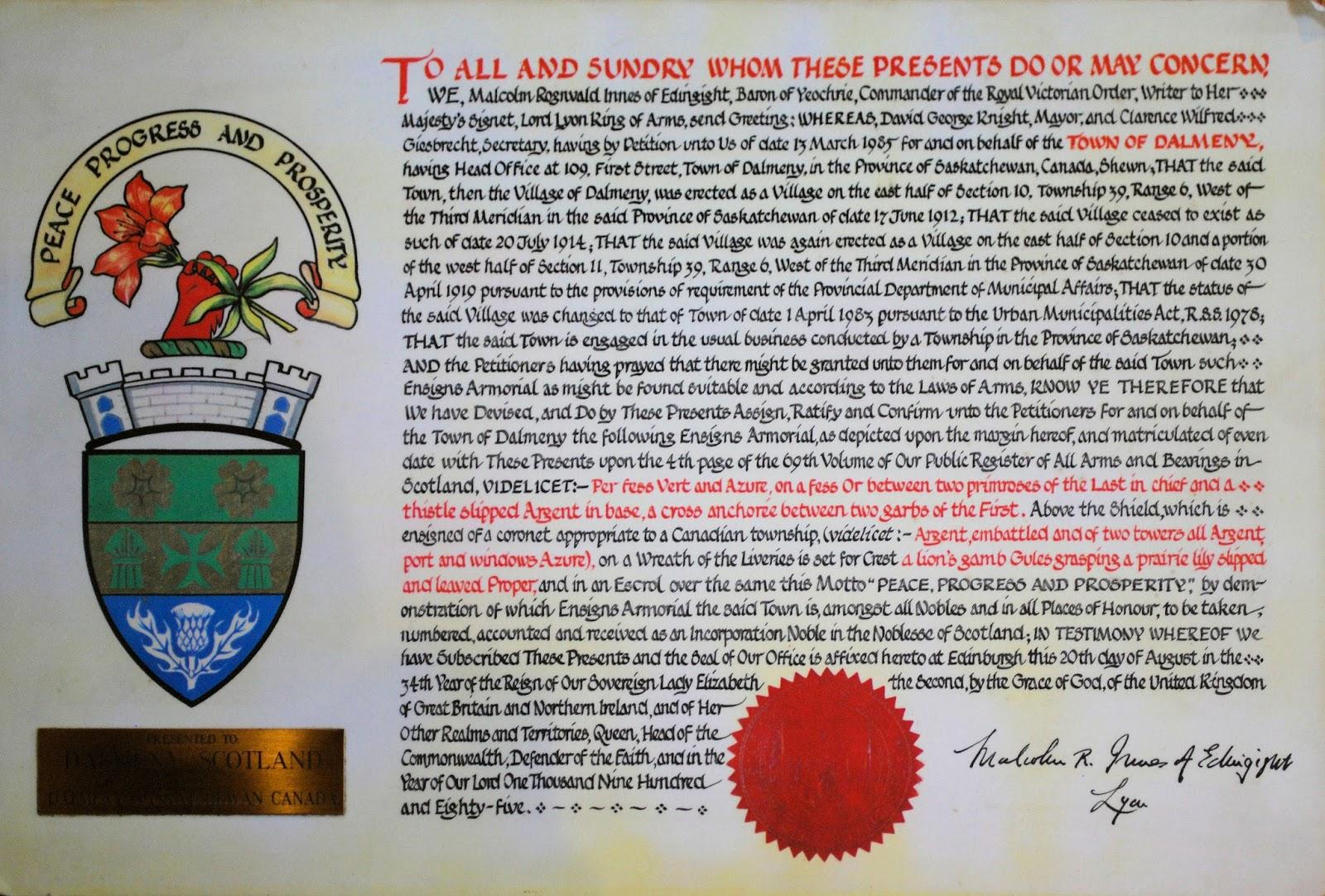 Heraldry: An Heraldic Stray in Scotland?