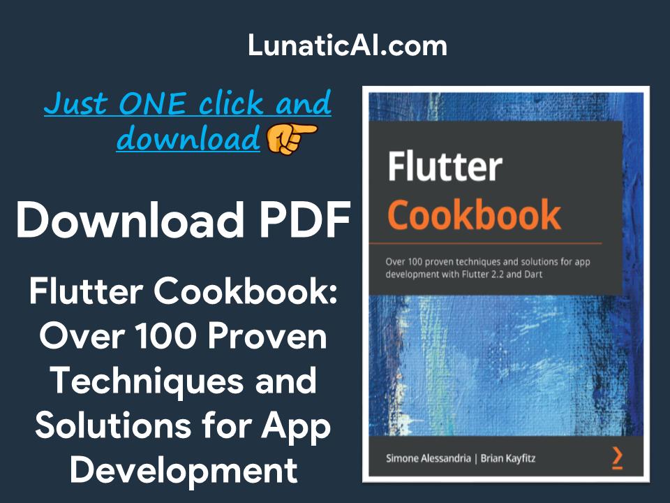 Flutter Cookbook PDF