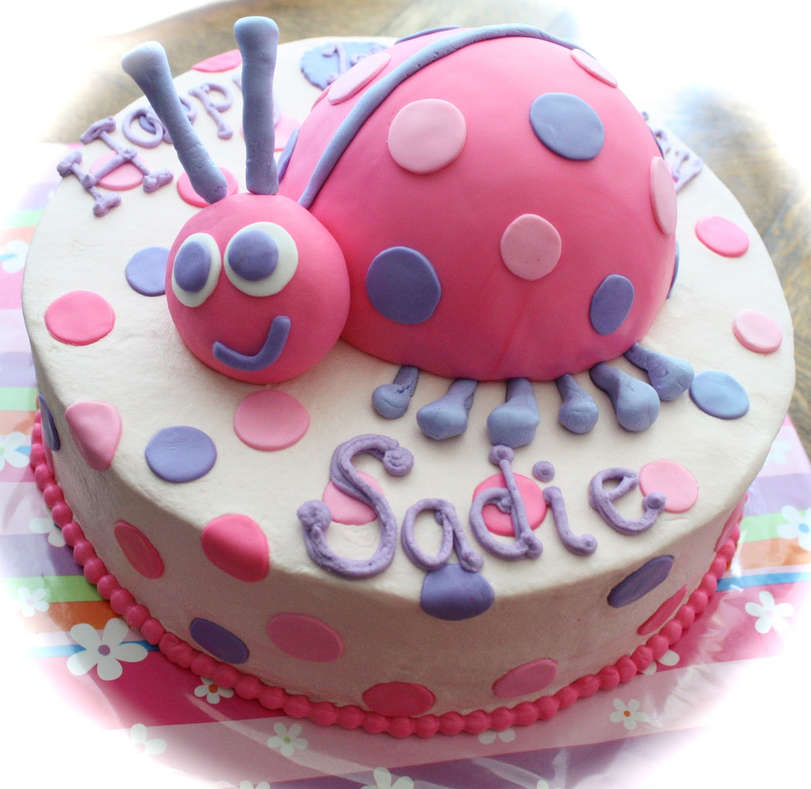 The Round Cake Is Lemon With Raspberry And Buttercream Filling Ladybug Yellow I Also Made A Coordinating Smash Happy 1st Birthday