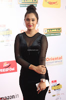 Vennela in Transparent Black Skin Tight Backless Stunning Dress at Mirchi Music Awards South 2017 ~  Exclusive Celebrities Galleries 077.JPG