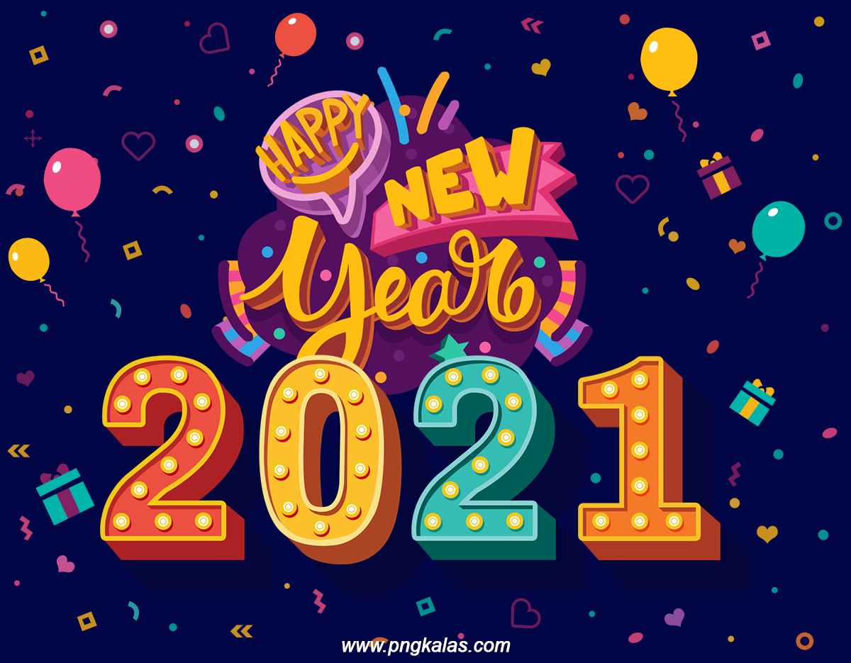 Happy New Year Banner 2021