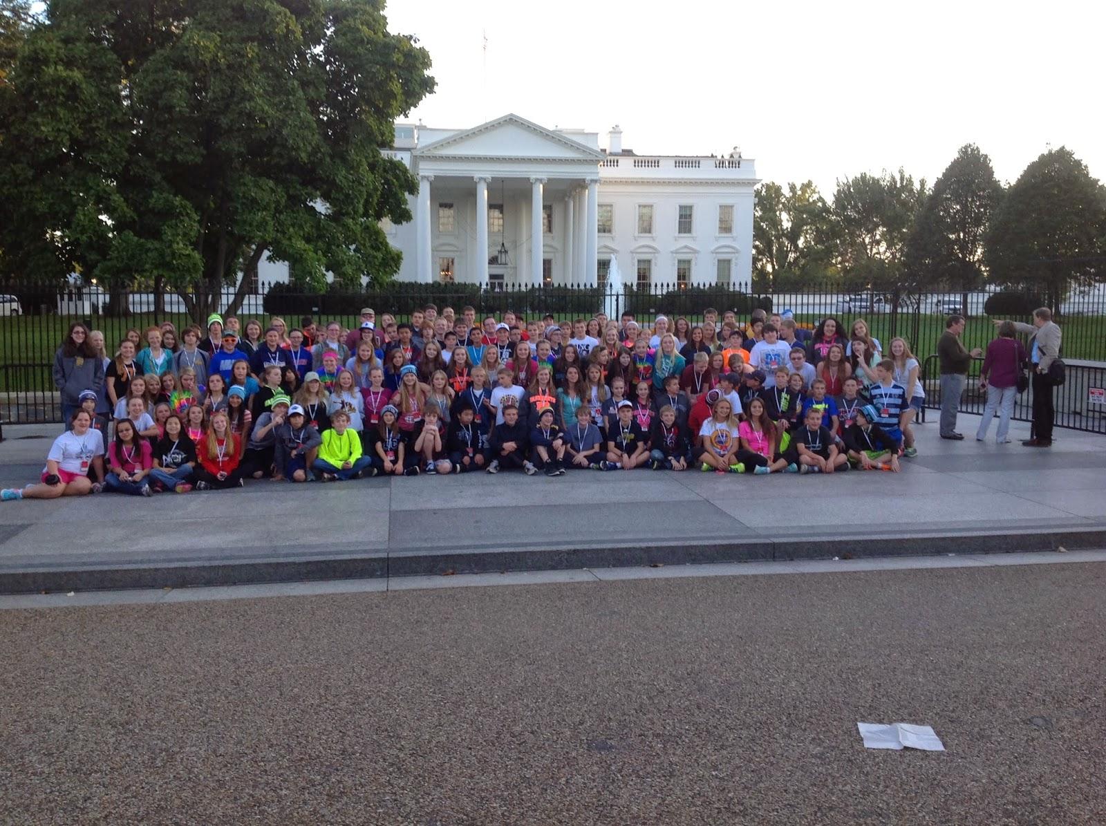 Twin Oaks Middle School 8th Grade Washington Dc Trip