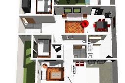 Sketsa Rumah Minimalis Type 36 yang Simple dan Nyaman