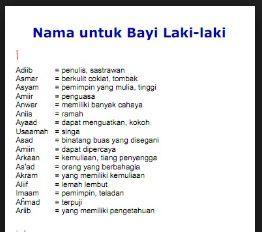 Daftar Nama Bayi Laki Laki Islami