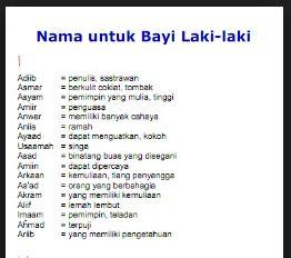 Daftar iNamai iBayii iLakii iLakii Islami Modern Lengkap Beserta