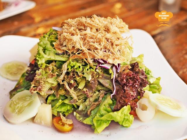 Naughty Nuri's Lavender Crispy Pork Salad